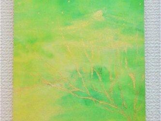 冬の水彩画 クリスマスの風景の画像