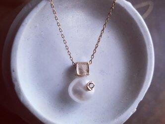 K10キューブ 淡水パール ネックレスの画像