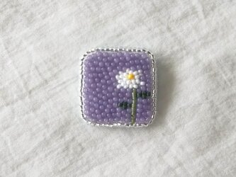 1輪の花 しかくタイプ ブローチの画像