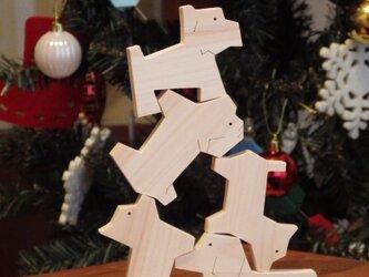 数量限定価格!dog*block《ちいさなツミキ》 wooden pet shop OZAKIの画像
