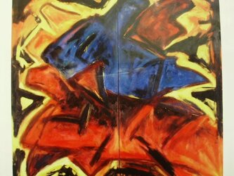 絵画 インテリア 大作 油絵 一点もの キャンバス画 油絵 群像 2の画像