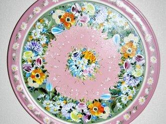 トールペイント絵皿の画像