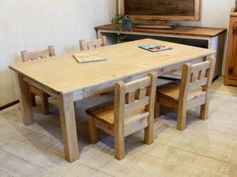 キッズテーブルセット 4人用の画像