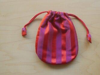 ふんわり手縫い巾着  着物地 中綿入 ☆送料無料【307】の画像