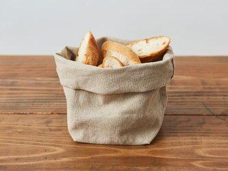 【再入荷】ブレッドバスケット(リネン帆布のパン袋)Mサイズの画像