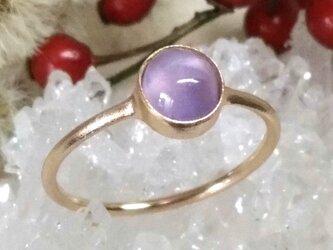 スターサファイア*K14 lunapinkgold ringの画像