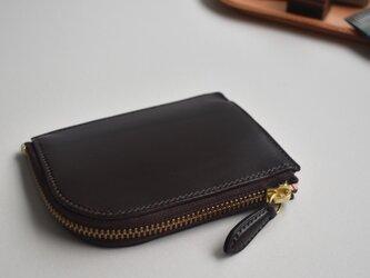 受注製作 きちんと仕分けてコンパクトなお財布  イタリアンレザー 総手縫いの画像