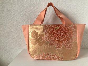 帯バッグ~サーモンピンクの菊の花〜の画像