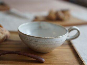 月下白のスープカップ No.127の画像
