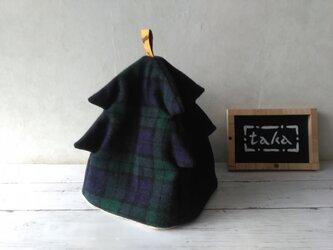 クリスマス・ツリーのティーコゼ ウール 1人用の画像