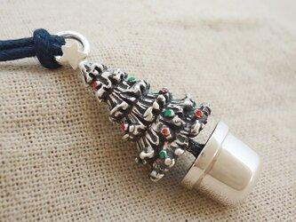 『クリスマスツリー』の鈴 銀製(シルバー925+レジン)の画像