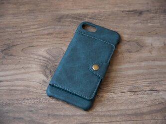 【受注製作】開閉が可能なカードケース付 iphone7/plus, 8/plus, X Xs XR,レザーケース G33の画像