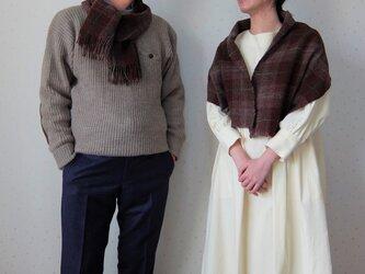 手紡ぎ・手織り ペアのミニストールの画像