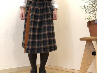 ウールガーゼ巻きスカート & ストール リバーシブル ... 2の画像