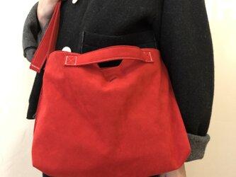 スエード トートバッグ c/#04 strawberry ... 7の画像