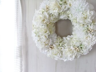 flower wreath-une-の画像