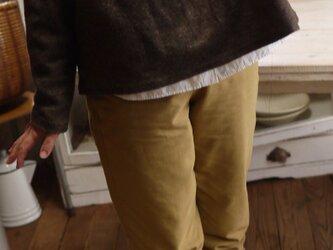 ウール混紡ミックス起毛ボトルネックトップスの画像