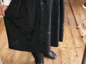 正絹100羽織からギャザースカートの画像