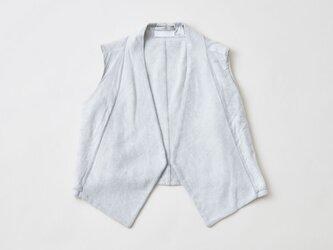 【送料無料】enrica vest001 / light greyの画像