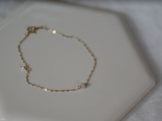 【U for you】ナチュラルダイヤモンド1粒ブレスレットの画像