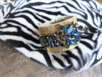 ハラコレザー カフブレスレット hair on leather cuff bracelet <LC-HBR1>の画像