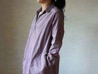 フロントタックワンピース:コーデュロイ紫の画像