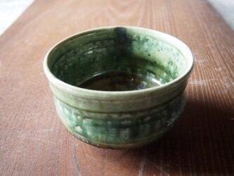 激渋い織部沓茶碗の画像