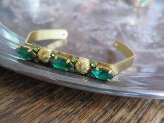 グリーンビジューバングル vintage bangle green bijou <BG-GR2>の画像