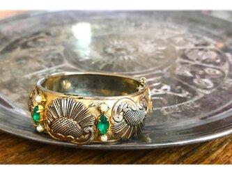 ボタニカルバングル vintage bangle green bijou <BG-GR1>の画像