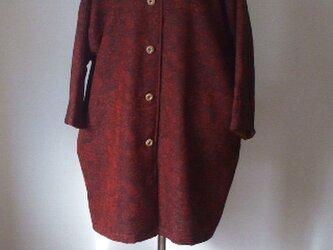 しょうざん(織りの着物)から半コート 絹49%ウール50%ナイロン1%の画像