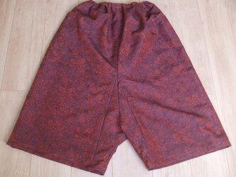 しょうざんの反物からたっぷりパンツ ウール50%絹49%ナイロン1%の画像