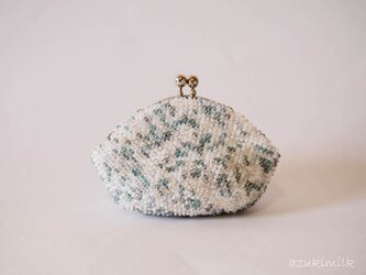 ビーズ編みがま口【薄氷】の画像