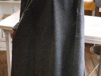 ウールカシミア混セーラーカラーワンピースの画像