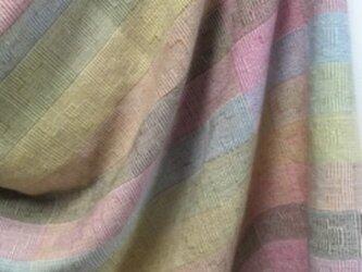 ◆手織/大判ストール/極細梳毛糸・シルク・カシミヤ混の画像