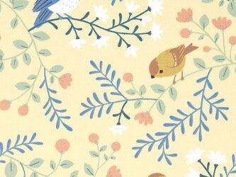 Birch プリントカットクロス アード アンド ブランチ 小鳥 オーガニックコットンファブリック生地の画像