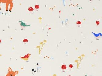 Birch プリントカットクロス Whistle-サニーフォレストバンビ オーガニックコットンファブリック生地の画像