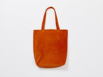 レザー トートバッグ M オレンジ | メンズ レディース 豚革 肩がけ 通勤 通学 プレゼント ギフトの画像