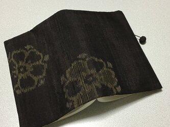 ★再販★    1201    着物リメイク    文庫サイズブックカバー    節紬    華紋模様の画像