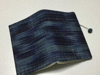 ★再販★    1202    着物リメイク    文庫サイズブックカバー    真綿紬    縞模様の画像