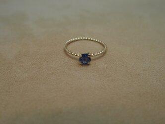 ブルーサファイヤ プチリング(o/v)の画像