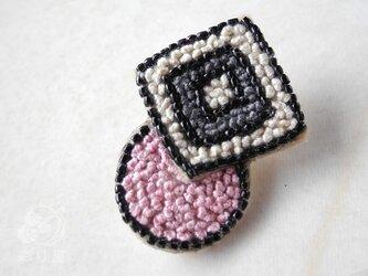 耳飾り【まるしかく】ローズピンク(片耳)の画像
