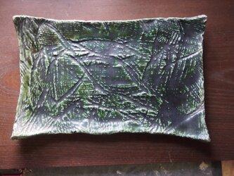 織部縄文大板皿の画像