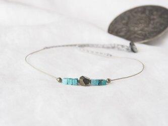 Antico Bleu(short necklace)の画像