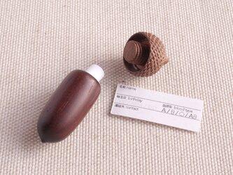 新作 | ちょっと大きめ 木彫どんぐり(開閉式・ペンダント)| OKB-2 | シタン×ウォルナットの画像