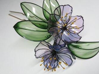 小花の髪飾り (藤紫)の画像