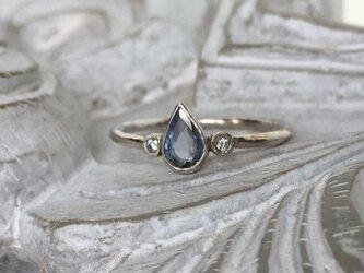 非加熱タンザナイト&ダイヤモンド・リング(silver925)の画像