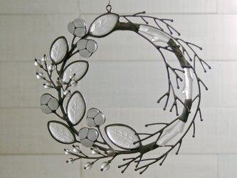 ガラスのリース [冬の実]Lの画像