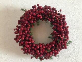☆Kさま専用ページ**真っ赤なクリスマスお正月リース(水引付き)の画像