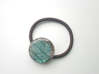 天然石の髪飾り「青のラブラドライト」の画像
