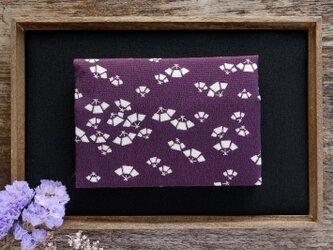 きものカードケース【絹】扇文の画像